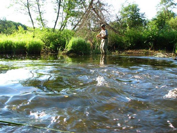 Ловля на ультралайт на реке