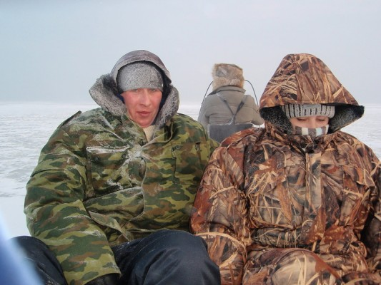 Куршский залив.09.02.2012 Окунь.