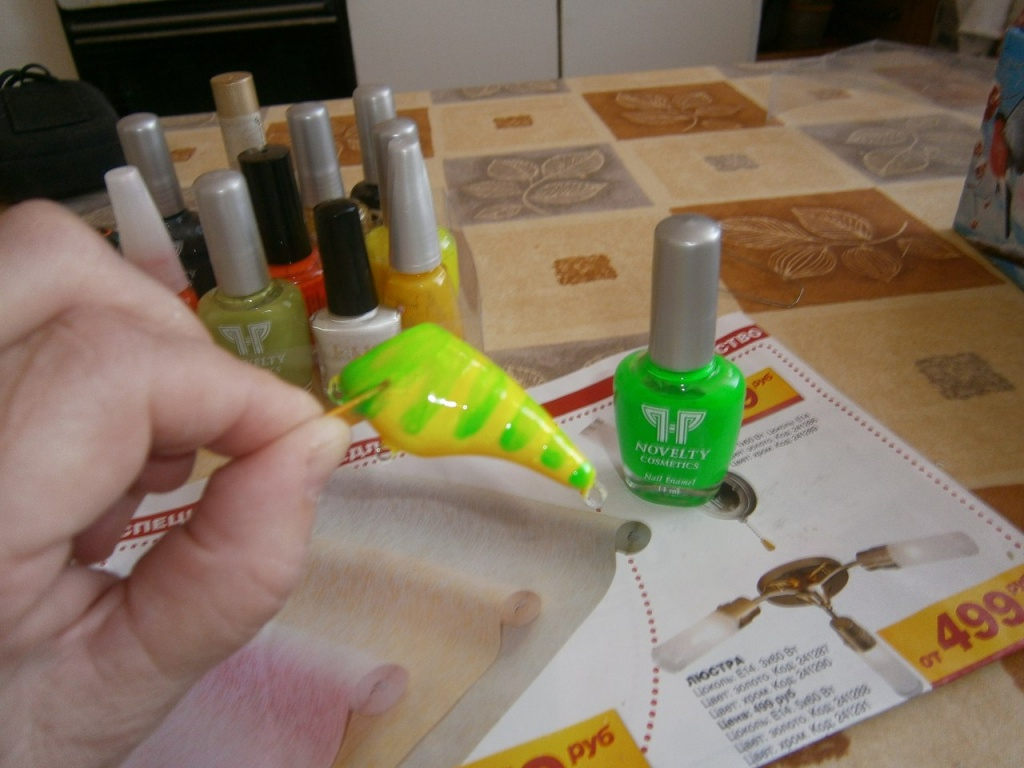 как перекрасить воблер в другой цвет